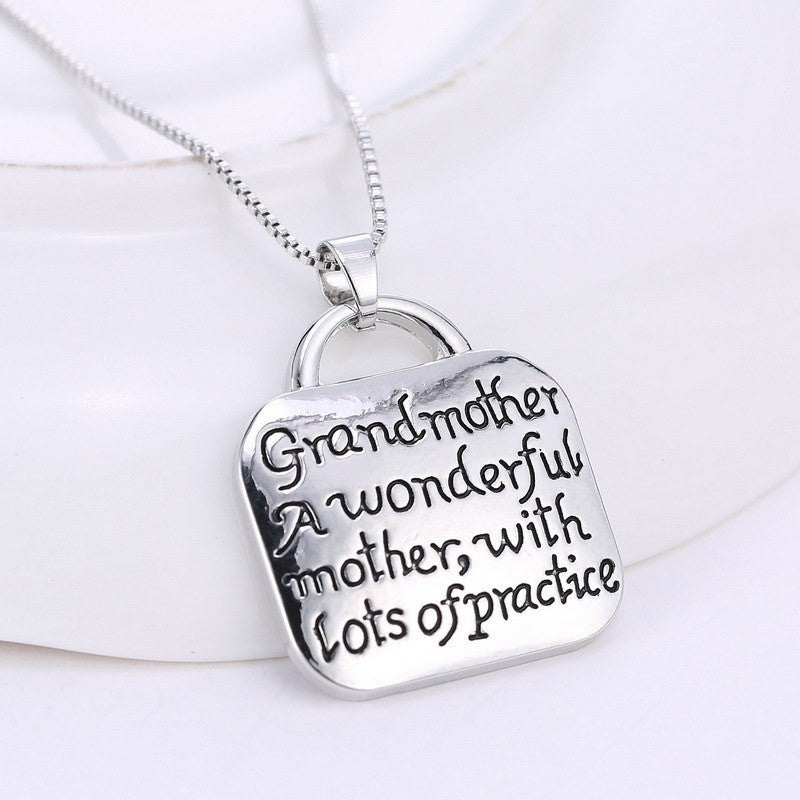 Engraved Grandmother Necklace Galaxy Teez Shirts Jewelry And