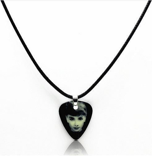 and holder timberwolf necklaces just pickbandz your picks custom guitar in gray on pick pop rock necklace