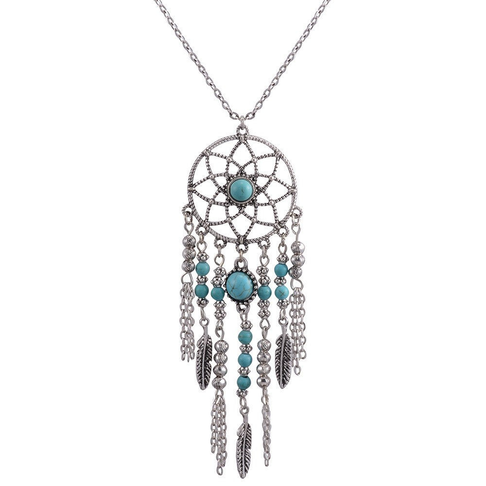 apop necklace catcher dreamcatcher turkoise silver sterling dream products inch