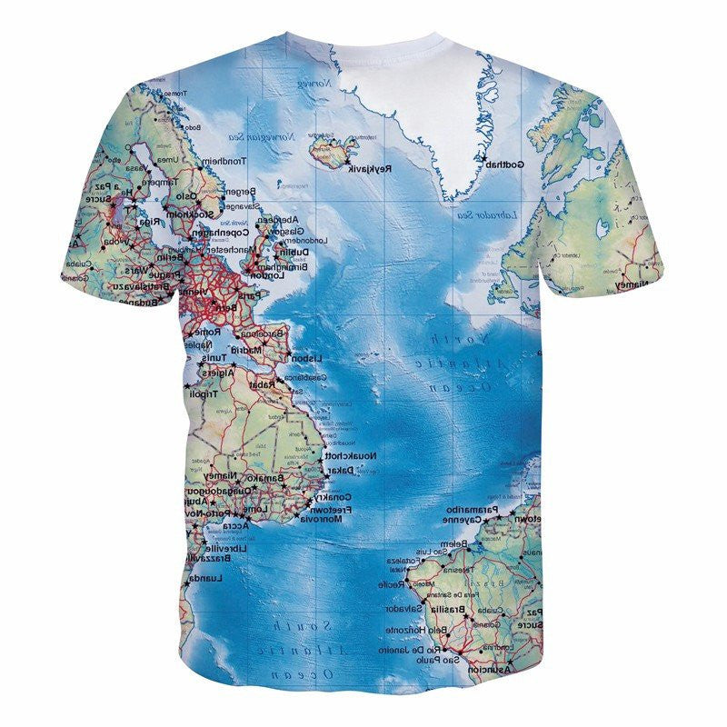World Map 3D TShirt Galaxy Teez Shirts Jewelry and Other