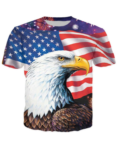 2017 Eagle Usa T Shirt V2 Galaxy Teez Shirts Jewelry