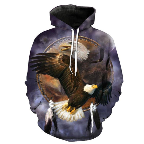 5fea934022d5 USA Collection - Native American Eagle 3D Hoodie
