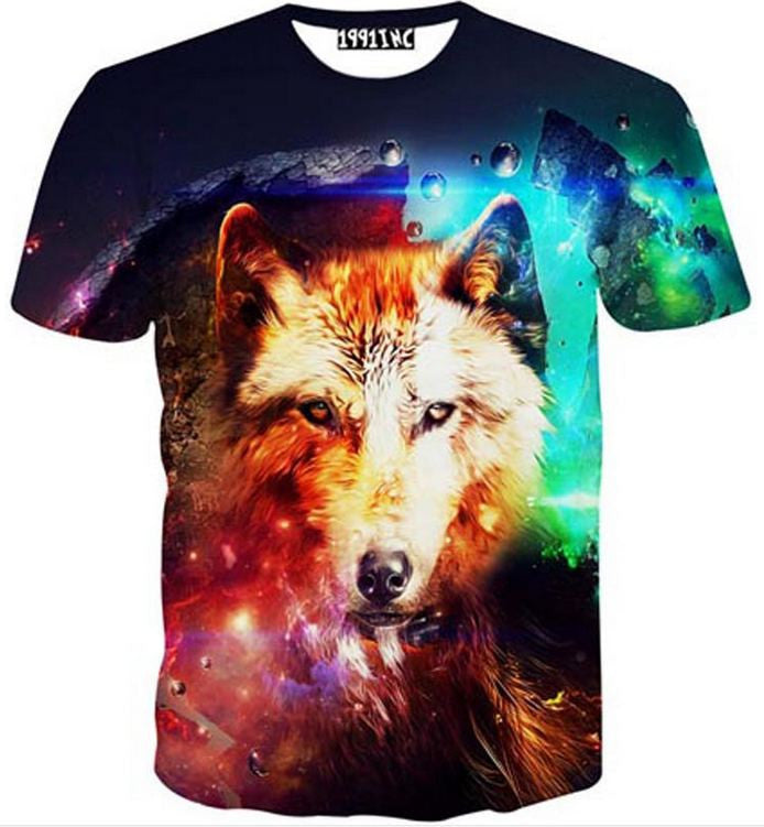 137a62c3 New Galaxy Wolf 3D T-Shirt - Galaxy Teez - Shirts, Jewelry and Other ...