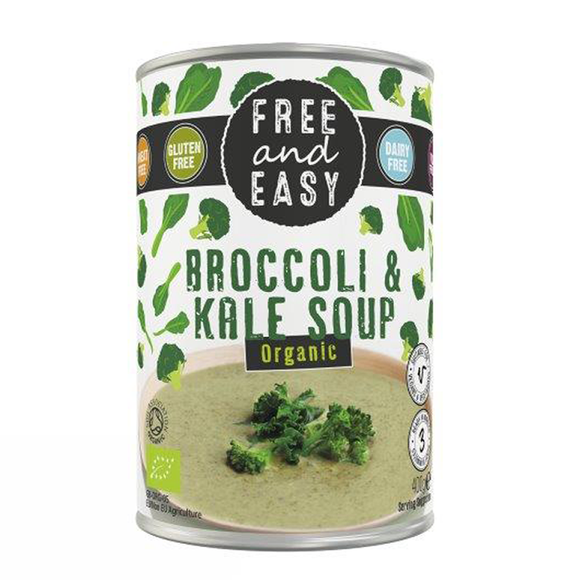 Free & Easy Organic Broccoli and Kale Soup