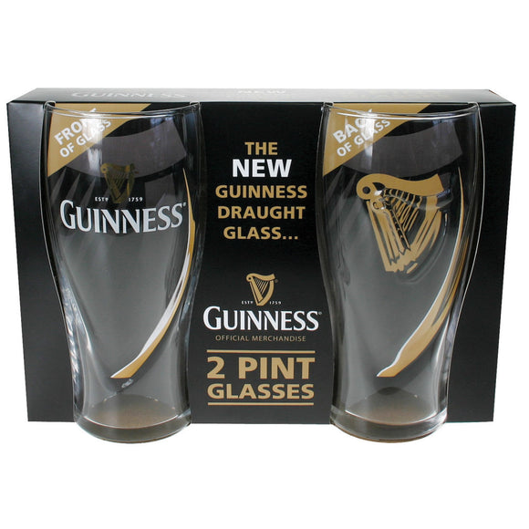 2 Pack Guinness Embossed Pint