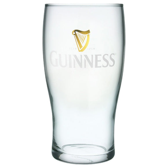 Guinness Gold Harp Pint Glass