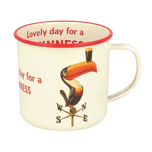 Lovely Day for a Guinness Enamel Mug