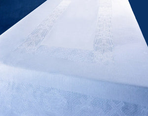 Irish Linen Etamine White Tablecloth