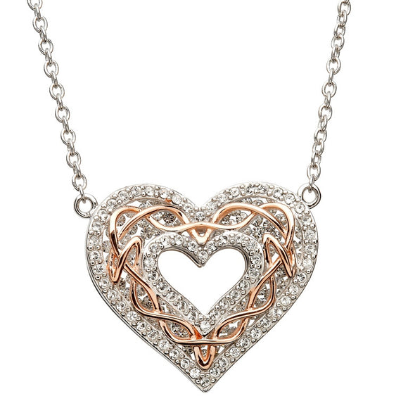 Heart Necklace with Rose Gold