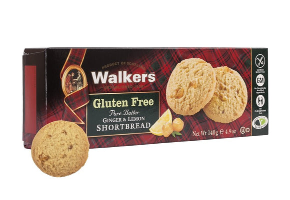 Walkers Gluten Free Ginger & Lemon Shortbread