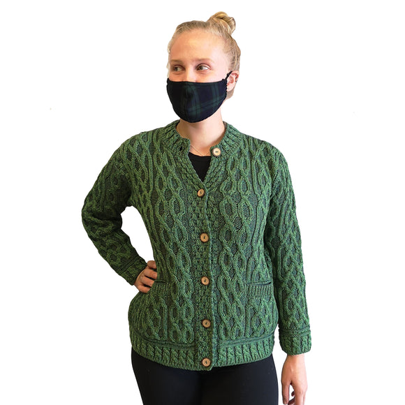 Merino Plaited Celtic Cardigan