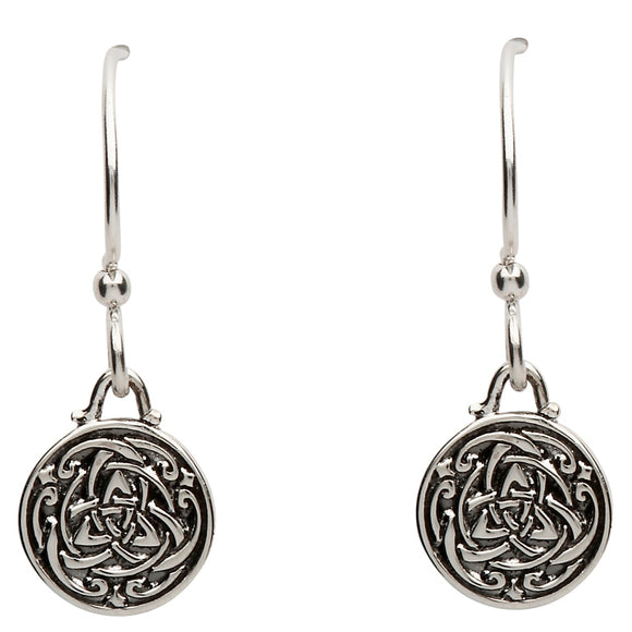 Celtic Silver Trinity Knot Earrings