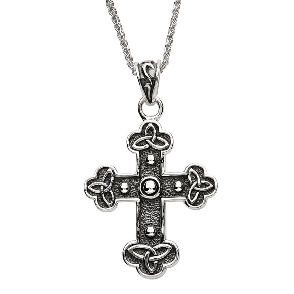 Silver Celtic Trinity Knot Cross