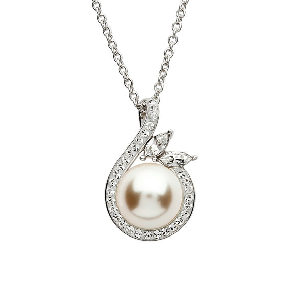 SS Swarovski Pearl/Crystal Necklace