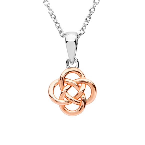 Sterling Silver Rose Gold Plated Celtic Pendant
