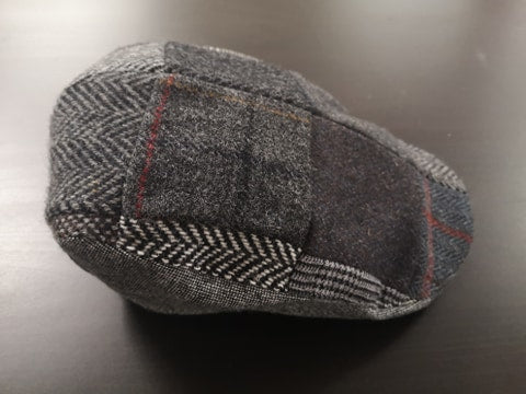 Grey Patchwork Tweed Donegal Touring Cap