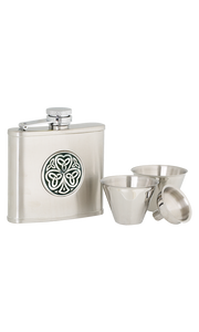 4oz Shamrock Stainless Steel Flask Set