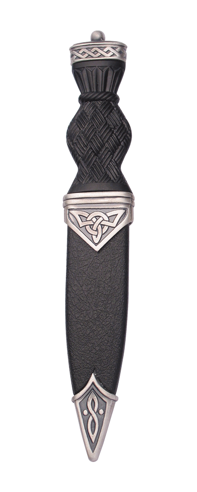 Celtic Matt Sgian Dubh With Plain Top