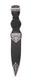 Celtic Polished Sgian Dubh With Stone Top