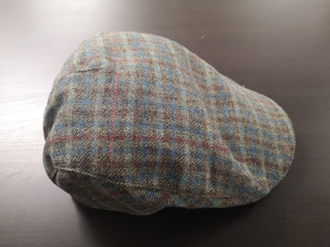 Green and Brown Tweed Donegal Touring Cap
