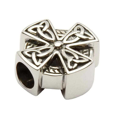 Celtic Design Silver Cross Bead