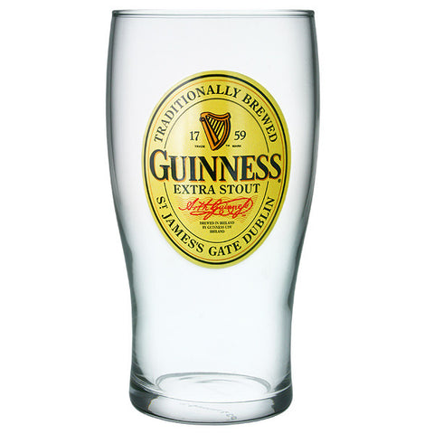 Guinness Label Pint Glass