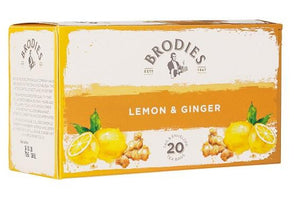 Brodies Lemon & Ginger Tag & Envelope 20s