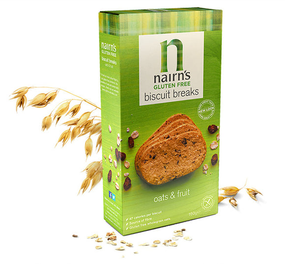 Nairn's Gluten Free Biscuit Breaks Oats & Fruit