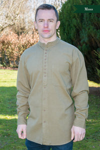 Civilian Cotton Retro Irish Shirt - Moss