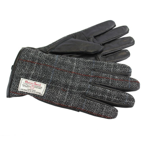 Harris Tweed Berneray Leather Gloves
