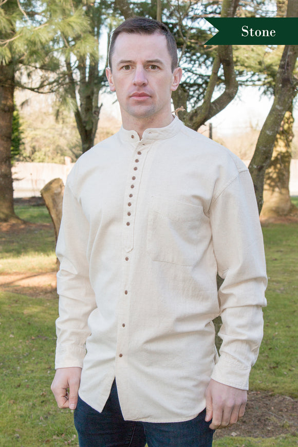 Civilian Cotton Retro Irish Shirt - Stone