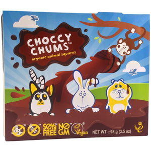 Moo Free Choccy Chums Animal Squares 98g