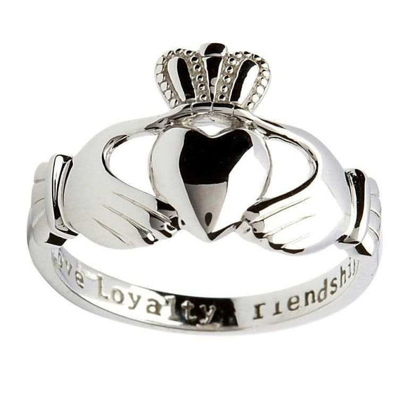 Ladies Silver Claddagh