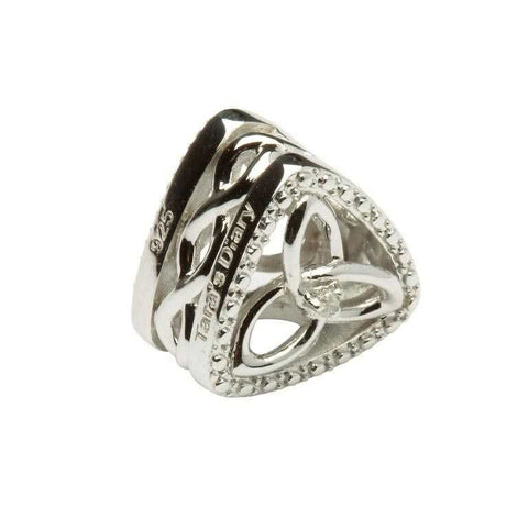 Diamond Set Trinity Knot Triangle Bead
