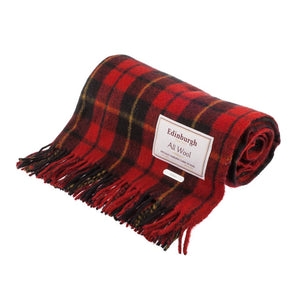 Wallace Tartan Wool Throw