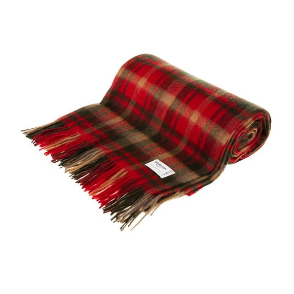 Maple Leaf Tartan Lambswool Throw