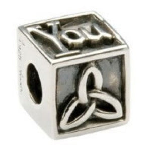 Square I Love You Bead