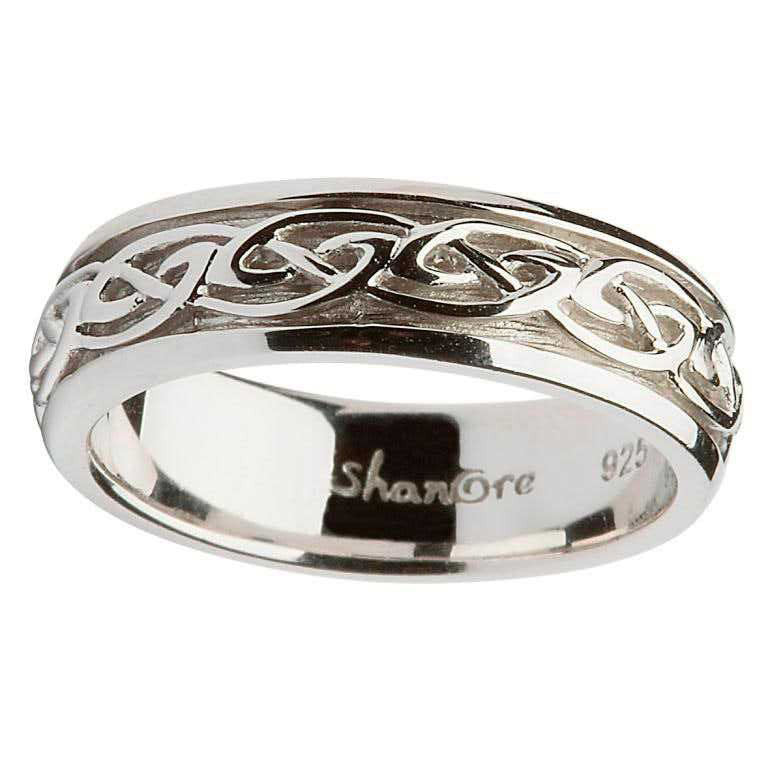 Ladies Silver Celtic Knot Wedding Ring The Scottish and Irish Store