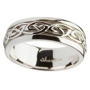Gents Silver Celtic Knot Wedding Ring