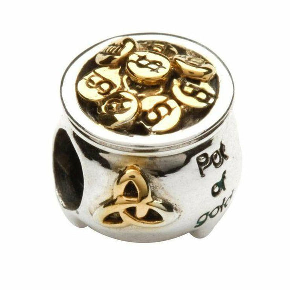 Celtic Trinity Pot of Gold Bead
