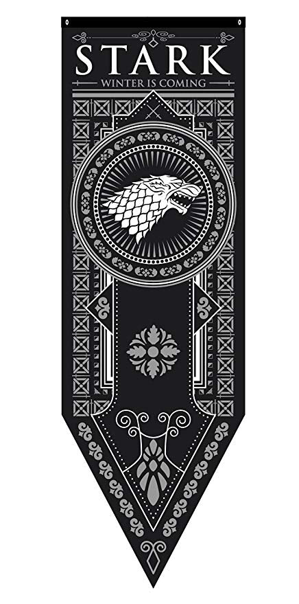 Game of Thrones Stark Black Tournament Banner