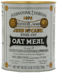 McCann's Steel Cut Irish Oatmeal Tin