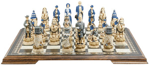 Painted American Civil War Chess Set