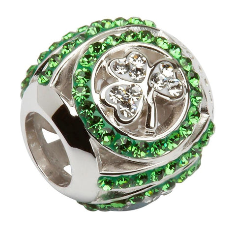 Shamrock Bead Encrusted With Swarovski Crystals