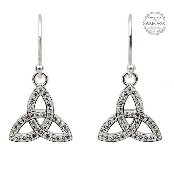Crystal Trinity Drop Earrings