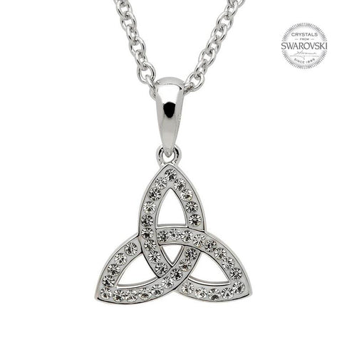 Celtic Trinity Knot Pendant Embellished With Swarovski Crystals