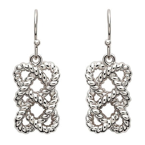 Sterling Silver Fisherman's Knot Earrings