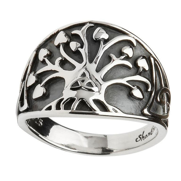 Tree of Life Trinity Knot Ring