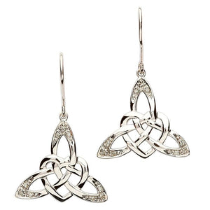 Intricate Celtic Knot Silver Design Earrings