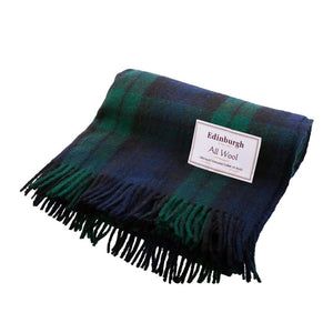 Black Watch Tartan Wool Throw